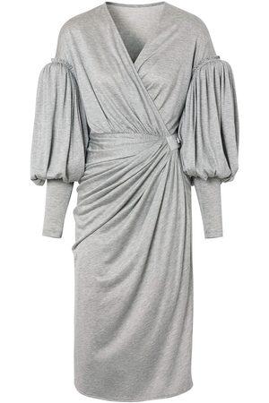 Burberry Damen Freizeitkleider - Wickelkleid mit Puffärmeln