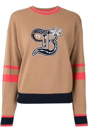 BAPY Damen Strickpullover - Pullover in Colour-Block-Optik