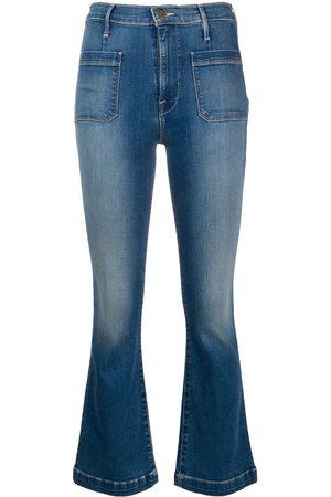 Frame Ausgestellte Cropped-Jeans