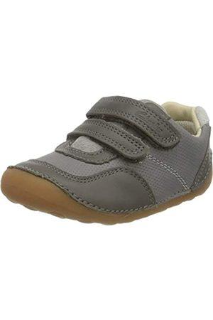 Clarks Jungen Tiny Dusk T Sneaker, (Grey Combi Grey Combi)