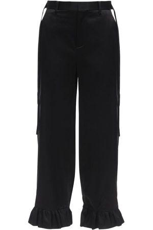 NOIR KEI NINOMIYA Damen Hosen & Jeans - Silk Satin Pants W/ Straps