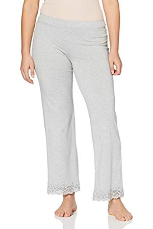 Skiny Damen Sleep & Dream Hose lang Schlafanzughose, (Stone Grey Melange 5593)