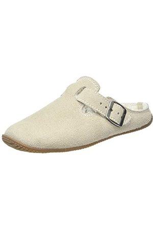 Living Kitzbühel Unisex-Erwachsene Lederpant. Schnalle & Lammfellinnensohle Pantoffeln, (Ivory 0118)