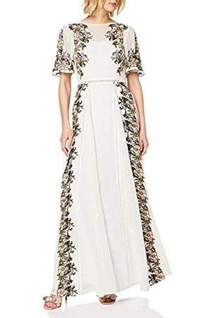 Frock and Frill Damen Joyce Embroidered Slimline Short Sleeve Maxi cocktailkleid