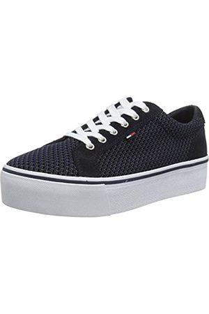 Tommy Hilfiger Damen WMN Textile City Sneaker, (Midnight 403)