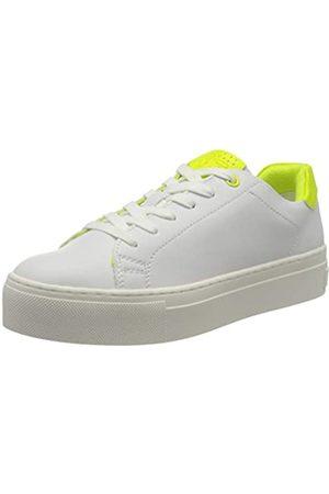 Marco Tozzi Damen 2-2-23764-34 Sneaker, Mehrfarbig (White/Neon YEL 132)