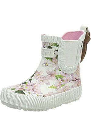 Bisgaard Mädchen Rubber Boot Baby Gummistiefel, Pink (Creme-Flowers 171)
