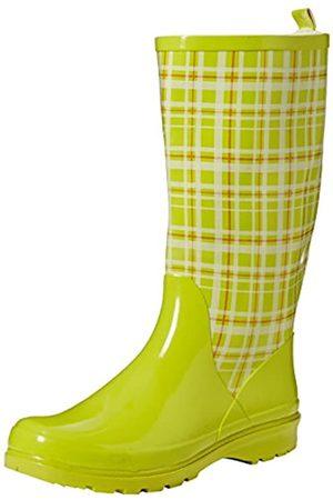 Playshoes Damen Gummistiefel, trendiger Regenstiefel aus Naturkautschuk, mit herausnehmbarer Innensohle, mit Karo-Muster, ( 29)