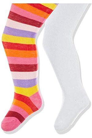 Playshoes Baby-Mädchen Ringel und Uni mit Komfortbund Strumpfhose