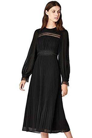 TRUTH & FABLE Amazon-Marke: Damen Kleid Plissee Midi Chiffon, 38