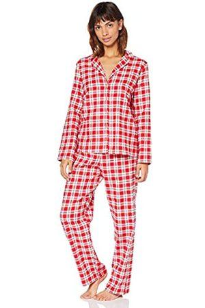 IRIS & LILLY Amazon-Marke: Damen Pyjama-Set aus Flanell, S