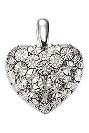 CELESTA Damen Anhänger 925/- Sterling Silber 2,4cm Glänzend Diamant 0