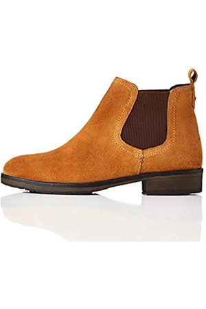 FIND Casual Suede Chelsea Boots, Tan)