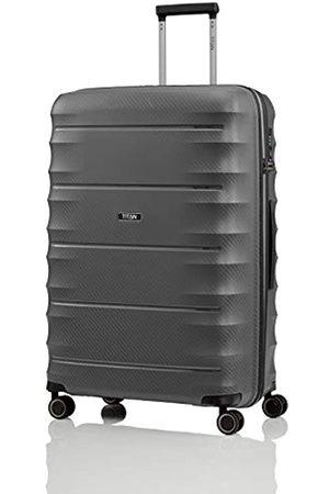 """Titan Super Leichter Hartschalenkoffer """"Highlight"""" in 4 Größen im Carbon Look, Handgepäck mit Vortasche Koffer, 75 cm"""