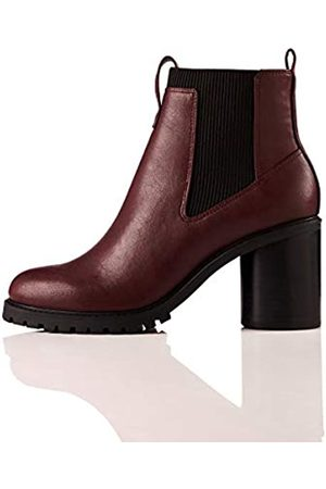 FIND Chunky Sole Chelsea Boots, Burgundy)