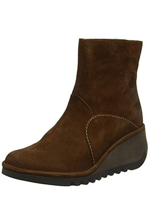 Fly London NEST056FLY, Damen Kurzschaft Stiefel, (Cognac 006)
