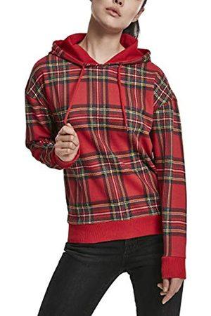 Urban classics Damen Kapuzen-Sweatshirt Ladies All-Over-Print Tartan Hoody Kapuzenpullover