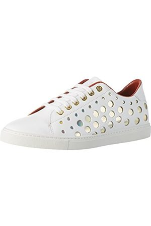 liebeskind Damen Lf173310 Calf Sneakers, (Ivory White)