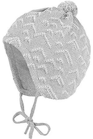 maximo Baby-Jungen mit Zick-Zack Struktur und Pompon und Bindeband Mütze