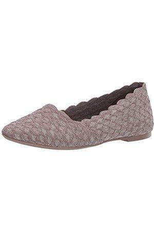 Skechers Damen Cleo - Honeycomb Geschlossene Ballerinas, (Dark Taupe Flat Knit Dktp)