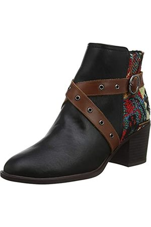 Desigual Damen Shoes Alaska Tapestry Stiefeletten, (Black 2000)