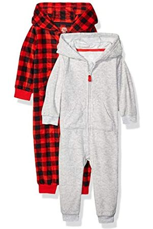 Amazon 2-Pack Microfleece Hooded Coverall fashion-hoodies, Grey Buffalo Check