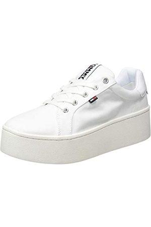 Tommy Hilfiger Damen Flatform Sneaker, (White 100)