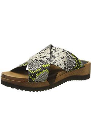 Sanita Damen Saskia Sport Flex Sandale Pantoletten, Mehrfarbig (Lime 41)