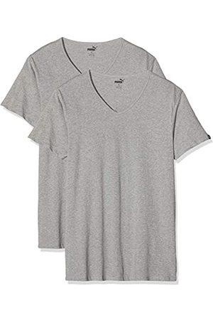 Puma Herren Basic 2p V-Neck T-Shirt