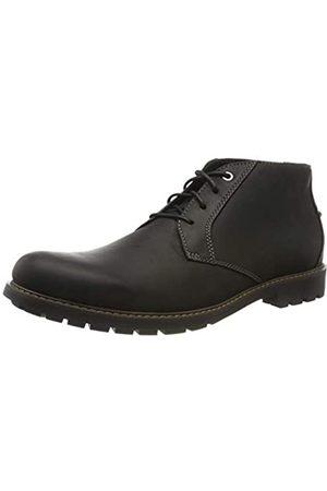 Clarks Men's Curington Over Klassische Stiefel, (Black Leather)