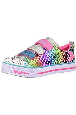 Skechers Girls' Twinkle Lite-Sparkle Scales Low Top Sneakers, Multicolour (Multi Microfiber Textile/Multi Trim Mlt)