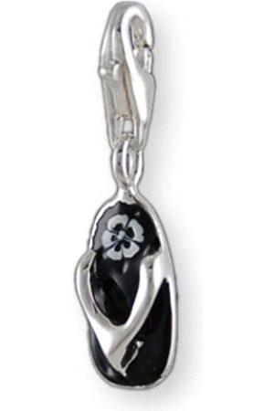 Melina Damen-Charm Anhänger Flip Flop Schuh Emaille 925 Sterling 1800024