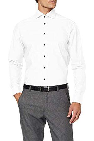 Seidensticker Herren Modern Fit Langarm mit Spread Kent-Kragen Patch2 Bügelfrei Uni-100% Baumwolle Businesshemd