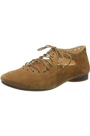 Think! Damen 686285_Guad Geschlossene Ballerinas, (Cognac 55)
