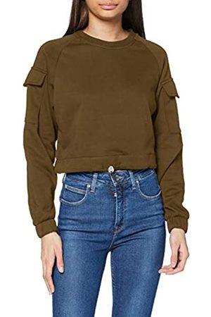Urban classics Womens Sweatshirt Ladies Short Worker Crewneck Pullover Sweater