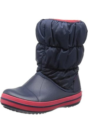 Crocs Winter Puff Boot Kids, Unisex - Kinder Schneestiefel, Blau (Navy/Red)