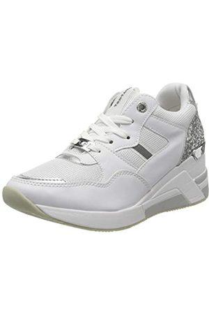 TOM TAILOR Damen 8091512 Sneaker, Mehrfarbig (White-Silver 00170)