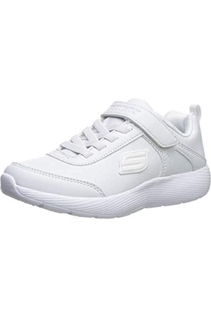 Skechers Mädchen Dyna-lite School Sprints Sneaker, (White Duraleather/Trim Wht)