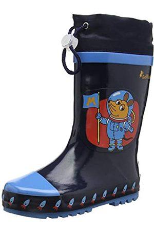 Playshoes Kinder Gummistiefel aus Naturkautschuk, trendige Unisex Regenstiefel mit Reflektoren, mit Sternen-Muster, (marine 11)