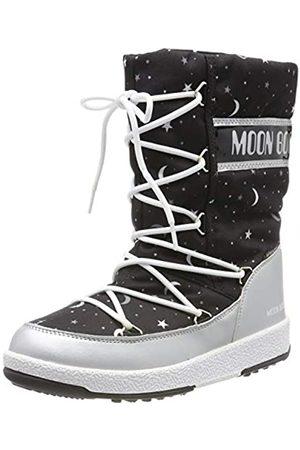 Moon Boot Mädchen Jr Girl Quilted Universe Wp Schneestiefel, (Nero 001)