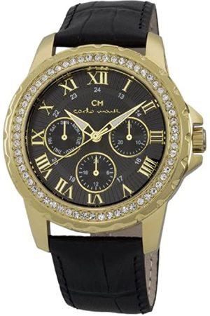 Carlo Monti Damen Uhren - Armbanduhr für Damen mit Analog Anzeige, Quarz-Uhr und Lederarmband - Wasserdichte Damenuhr mit zeitlosem, schickem Design - klassische