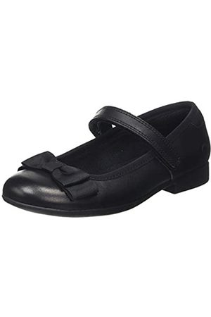 Clarks Mädchen Scala Tap K Geschlossene Ballerinas, (Black Leather Black Leather)