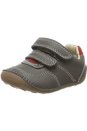Clarks Mädchen Tiny Dusk T Sneaker, (Grey Leather Grey Leather)