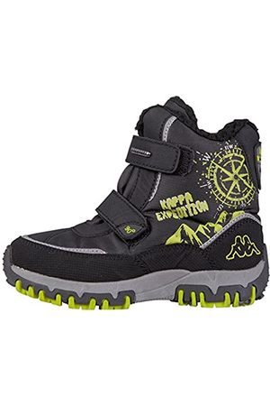Kappa Unisex-Kinder DENTON II TEX KIDS Kurzschaft Stiefel, (1133 Black/Lime)
