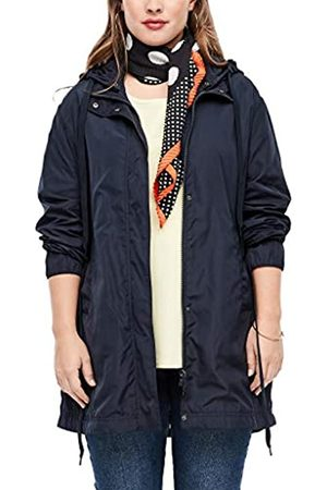 s.Oliver Damen Jacke in seidenmatter Optik navy 52