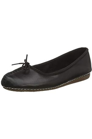 Clarks Damen Freckle Ice Mokassin, (Black Leather)