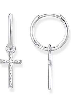Thomas Sabo Damen-Creolen Kreuz Glam & Soul 925 Sterling CR622-051-14