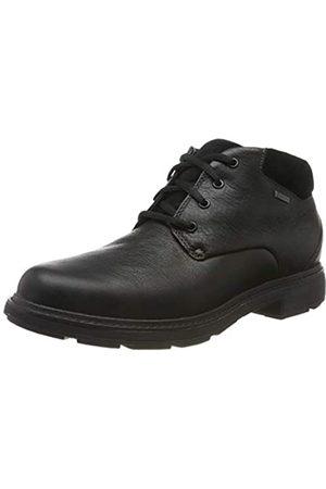 Clarks Herren Un Tread UpGTX Klassische Stiefel, (Black Leather Black Leather)