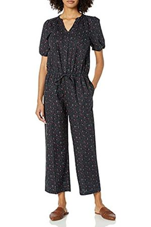 Goodthreads Washed Linen Blend Button Front Jumpsuits-Apparel