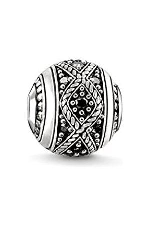 Thomas Sabo Damen Herren-Bead Knoten Karma Beads 925 Sterling geschwärzt Zirkonia schwarz K0237-643-11